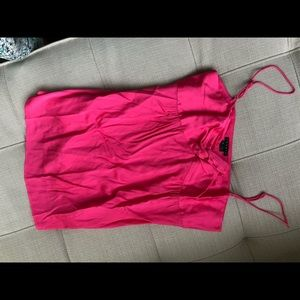 Theory hot pink silk camisole tank top